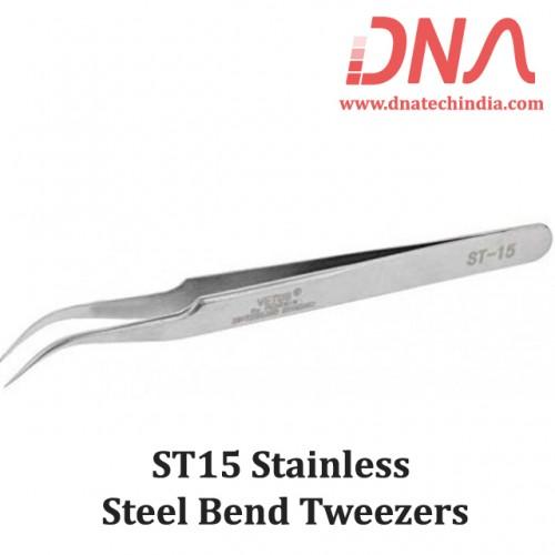 ST15 Stainless Steel Bend Tweezers