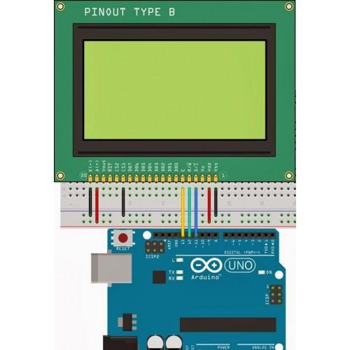 ST7920 128X64 Green GLCD