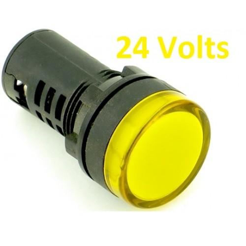 YELLOW Panel Indicator 24V