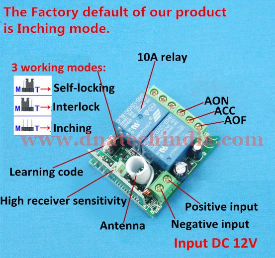 Wireless RF Remote Control Switch 2 Channel