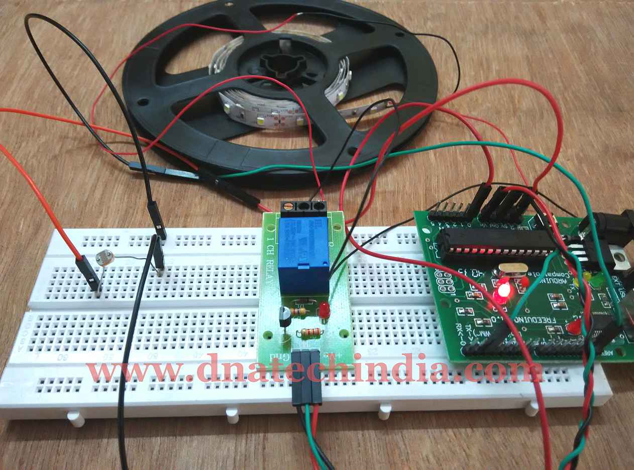 Tested Working Project Arduino Based Dark Switch Ldr Circuit Diagram 230v Successfully Implemented Output Of Under Condition