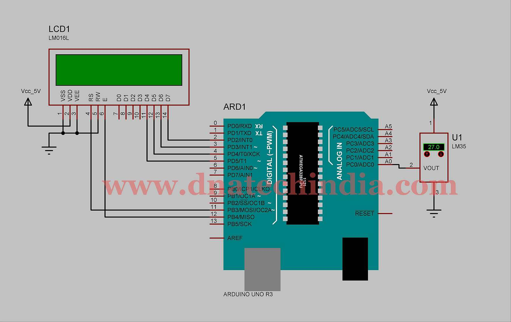 Tested working project arduino thermometer using lm