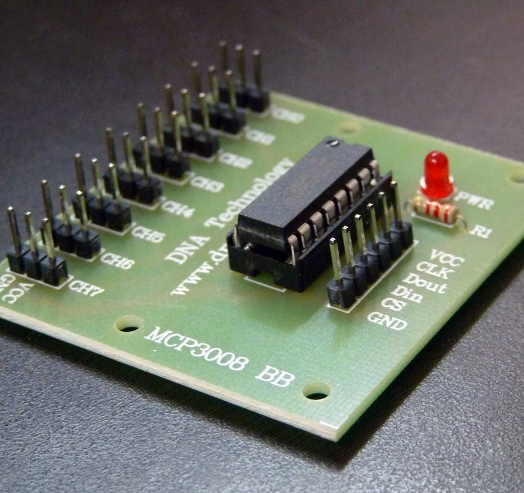 Buy Online Mcp3008 Adc In India At Low Cost From Dna Technology Adc0808 8211 Simple Analoque To Digital Converter Having Wiring Issues When Connecting Rpi3 Did You Try Out Our Breakout Board