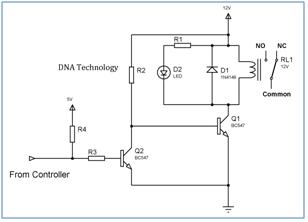 Interfacing relay to microcontroller relaydrivercircuitusingtwotransistor ccuart Images