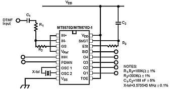 DTMF DECODER IC 8870 PDF