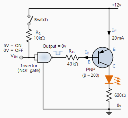 PNP_Transistor_Switching_Circuit transistor as a switch npn transistor as a switch circuit diagram at cos-gaming.co
